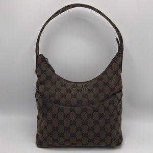 Authentic Gucci GG Monogram Canvas & Leather Bag